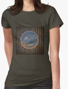 man hole cover Womens Fitted T-Shirt
