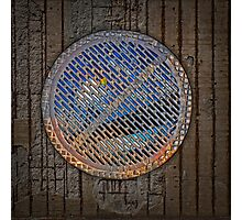 man hole cover Photographic Print