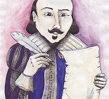 Shakespeare writing by Skye Tranter