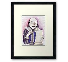 Shakespeare writing Framed Print