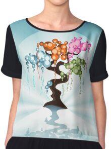 The Four Seasons Bubble Tree Chiffon Top