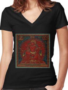 Kurukulla - Tibetan Buddhism Women's Fitted V-Neck T-Shirt