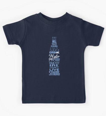 Live Strong - aqua Kids Tee
