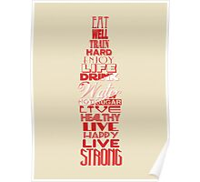 Live Strong Poster