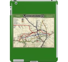TUBE, UNDERGROUND, MAP, 1908, London, Historic, UK, GB, England, on Green iPad Case/Skin