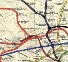 TUBE, UNDERGROUND, MAP, 1908, London, Historic, UK, GB Sticker