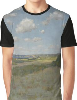 William Merritt Chase - Sunlight And Shadow, Shinnecock Hills. Field landscape: field landscape, nature, village, garden, flowers, trees, sun, rustic, countryside, sky and clouds, summer Graphic T-Shirt