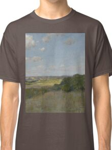 William Merritt Chase - Sunlight And Shadow, Shinnecock Hills. Field landscape: field landscape, nature, village, garden, flowers, trees, sun, rustic, countryside, sky and clouds, summer Classic T-Shirt