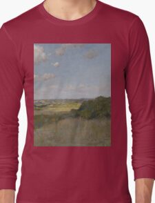 William Merritt Chase - Sunlight And Shadow, Shinnecock Hills. Field landscape: field landscape, nature, village, garden, flowers, trees, sun, rustic, countryside, sky and clouds, summer Long Sleeve T-Shirt