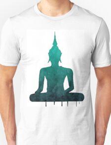 Turquoise Zen Watercolor Design Unisex T-Shirt