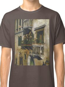 William Merritt Chase - Venice 1877. House landscape: city view, streets, building, balcony, window, cityscape, architecture, construction, travel , panorama, buildings Classic T-Shirt