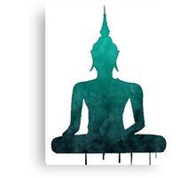 Turquoise Zen Watercolor Design Canvas Print
