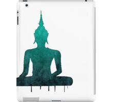 Turquoise Zen Watercolor Design iPad Case/Skin