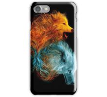 Wolf Red and Blue iPhone Case/Skin