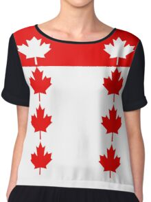 Canadian Flag Inspired Chiffon Top