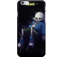 Reset for Sans iPhone Case/Skin