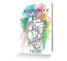 Bulletproof Heart - My Chemical Romance Greeting Card