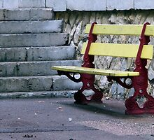 Steps And A Bench by phil decocco