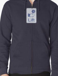 Lift  (vertical logo) Zipped Hoodie