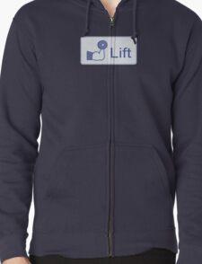 Lift  (horizontal logo) Zipped Hoodie