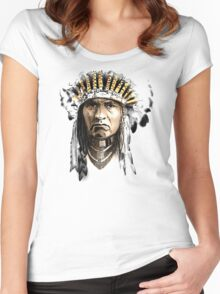 Indian Howling Women's Fitted Scoop T-Shirt
