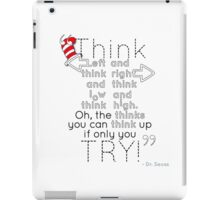 Think left and think right iPad Case/Skin