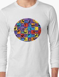 Pop Art Hounds Long Sleeve T-Shirt