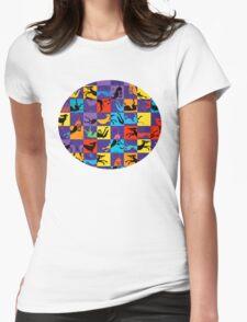 Pop Art Hounds Womens Fitted T-Shirt