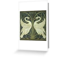 Crane's Swans Greeting Card