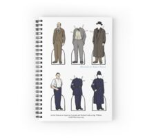 Lestrade/Wilkins Paper Dolls Spiral Notebook