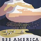 Welcome to Montana - See America WPA by warishellstore