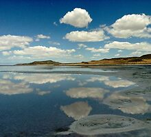 Great salt lake reflection by linwatchorn