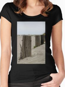 Old Fence Poles Women's Fitted Scoop T-Shirt
