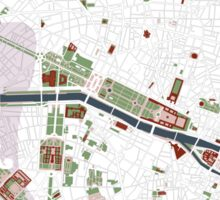 Paris city map minimal Sticker