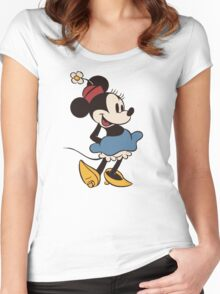 Minnie Retro Women's Fitted Scoop T-Shirt