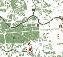 Berlin city map minimal Sticker