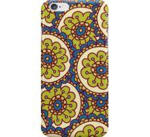 green doodle flower pattern iPhone Case/Skin