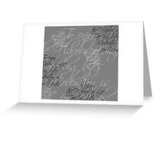 Typographic T' Shirt - Take Big Bites Greeting Card