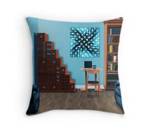 Interior Design Idea - Blue Sea Anemone Throw Pillow
