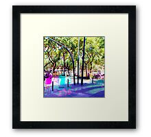 Set your mind at ease as you muster all a fluster. Framed Print