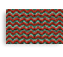 zigzag seamless knitting colorful pattern Canvas Print