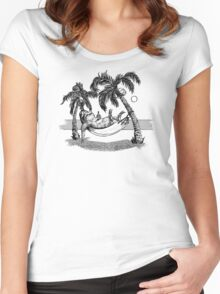 Kelly Groen Sloth Women's Fitted Scoop T-Shirt