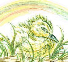Pekin Baby Duck by Teresa White