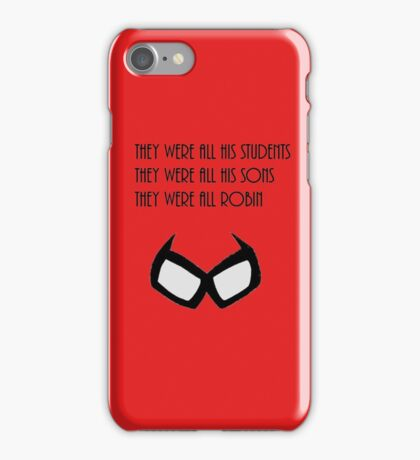 They were all his students iPhone Case/Skin