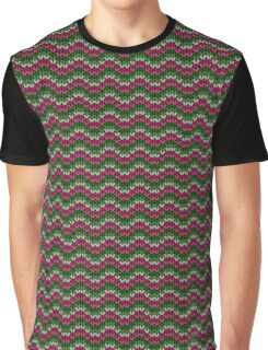 zigzag seamless knitting colorful pattern Graphic T-Shirt