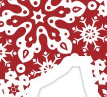 Labrador Retriever Christmas Snowflakes Sticker