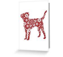 Labrador Retriever Christmas Snowflakes Greeting Card