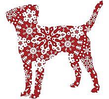 Labrador Retriever Christmas Snowflakes Photographic Print