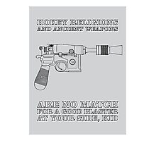 Han Solo - Blaster Photographic Print