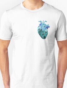 Rose tinted heart - Blue Unisex T-Shirt